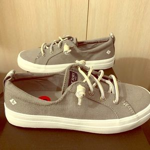 "Sperry Crest Vibe ""Grey"" Women's 6"